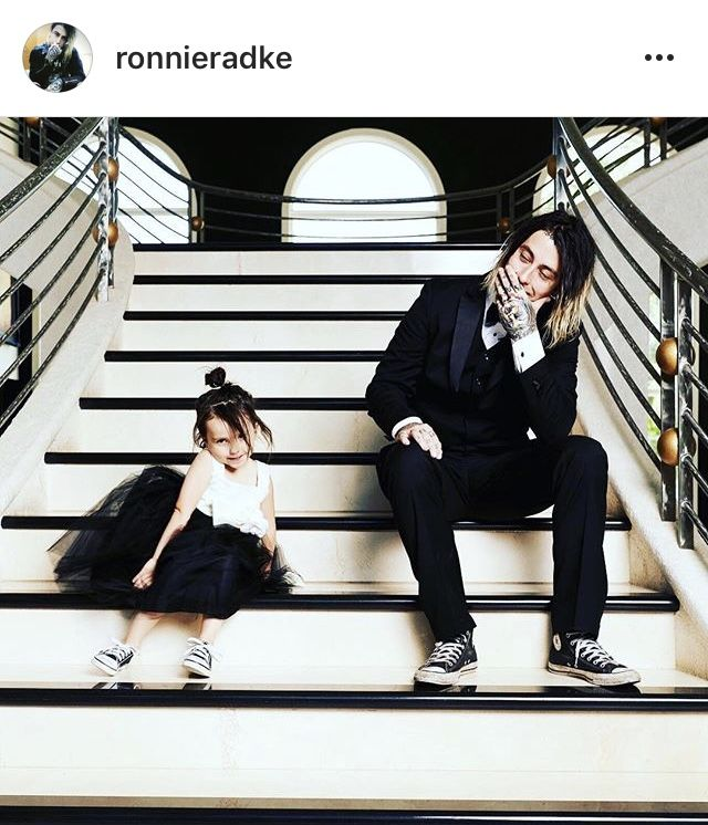 I just love this so much, Ronnie Radke and his daughter Willow Radke