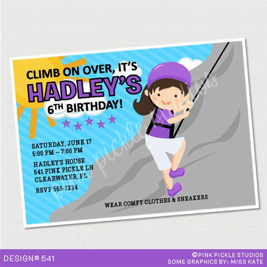 Best Rock Climbing Party Images On Pinterest Rock Climbing - Birthday party invitations rock climbing