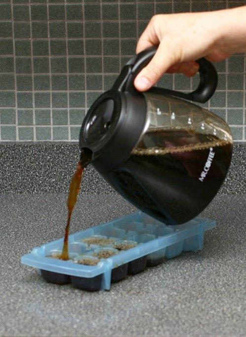 Make Frozen Coffee Cubes