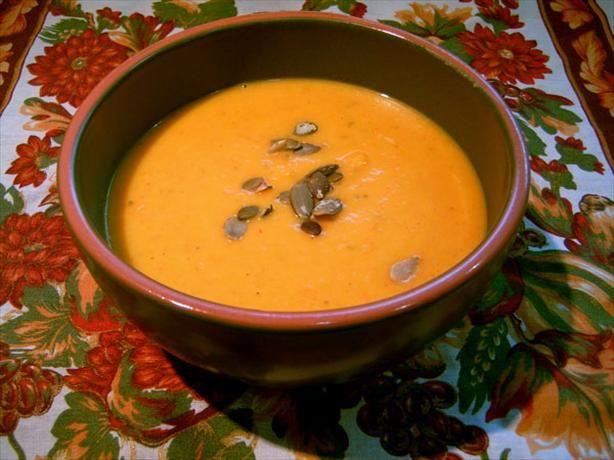 Fresh Pumpkin Soup By Kerry Simon Recipe Pumpkin Soup