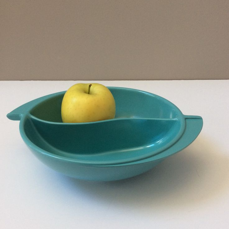 Vintage Blue Boontonware Divided Serving Bowl With Handles by EastWestVintage1 on Etsy