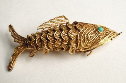 17 best images about fish that got away on pinterest for Gold fish pendant