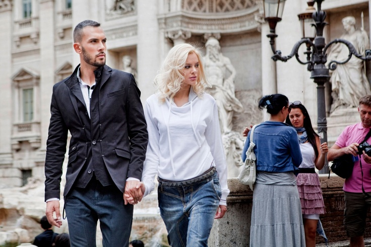 Shooting in Rome with Ria Antoniou...  ( Stefan e Gio campaign ).