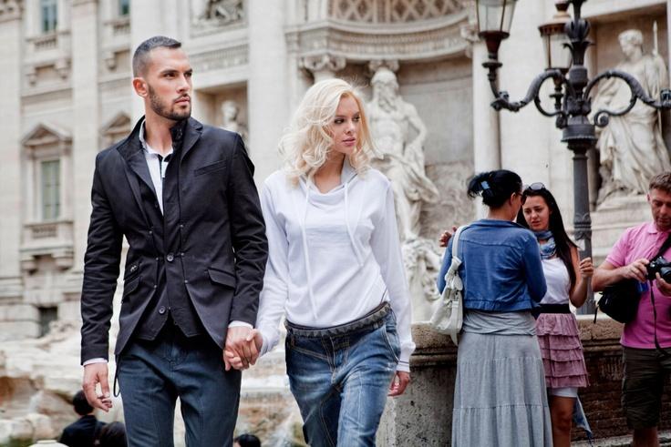 Shooting in Rome with Ria Antoniou...  ( Stefan e Gio campaign ).