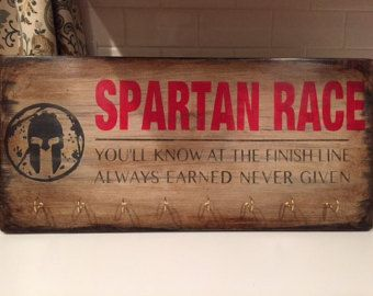 Spartan Race Medal Hanger Sign