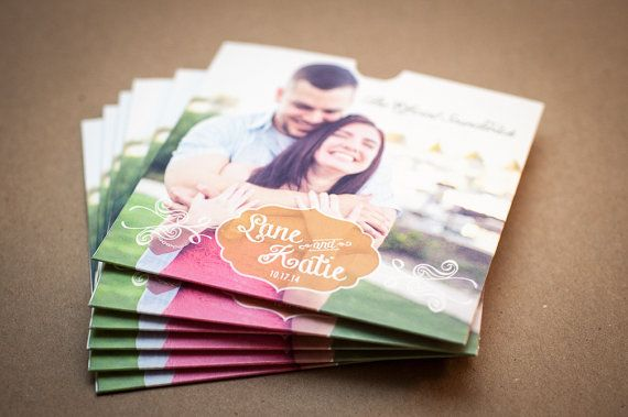 unique wedding favor ideas - personalized soundtrack CD