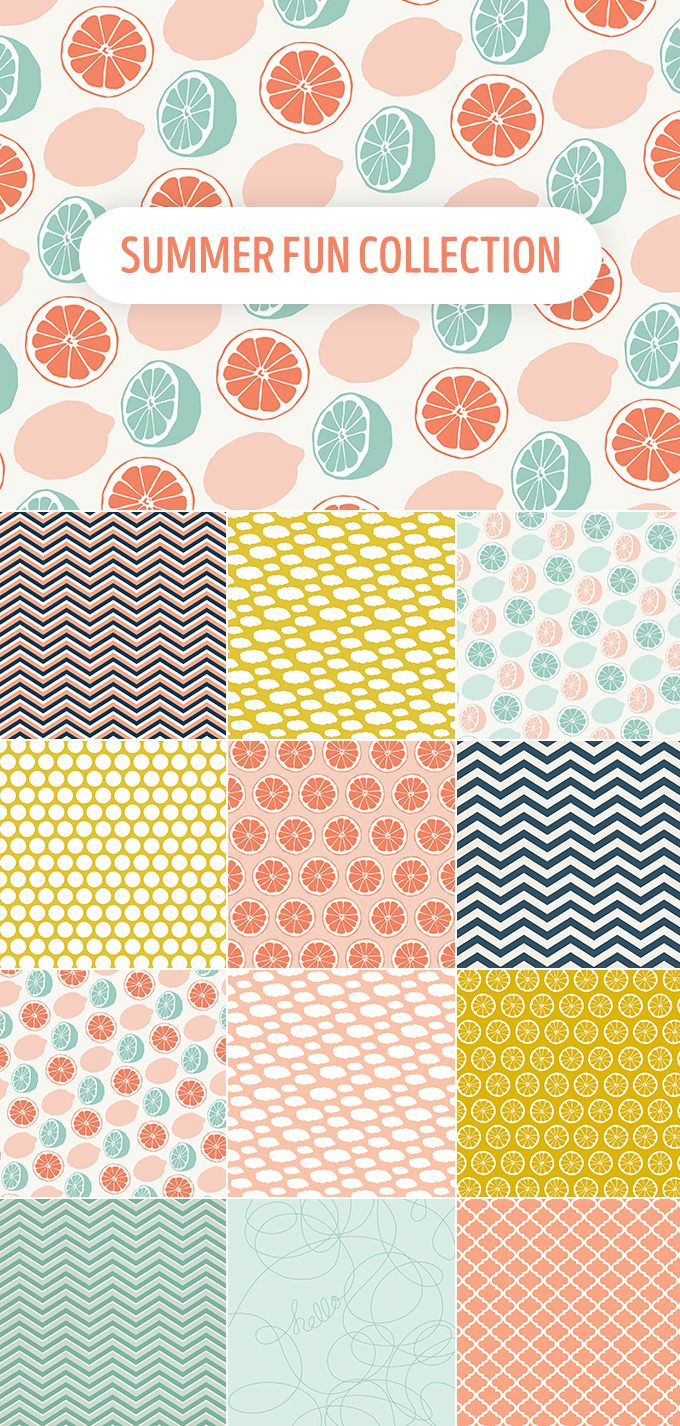 Summer Fun Patterns Collection FREE DOWNLOAD                                                                                                                                                     More