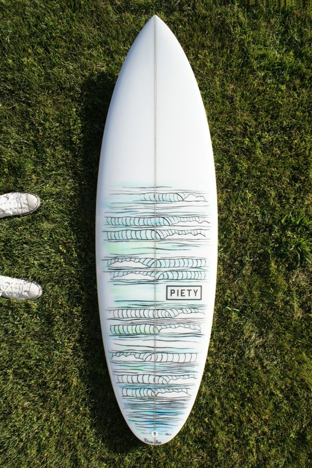 Waves on waves surfboard. Sweet and simple design