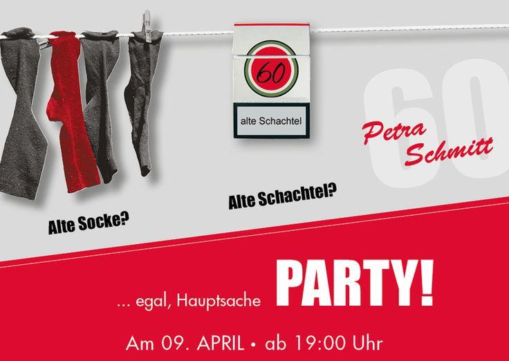 Einladung zum 60. Geburtstag: Alte Socke von Individuelle Einladung auf DaWanda.com