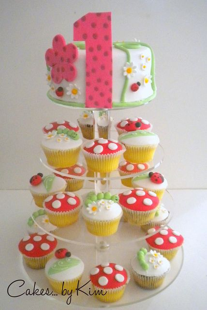 Cupcake tower birthday cake