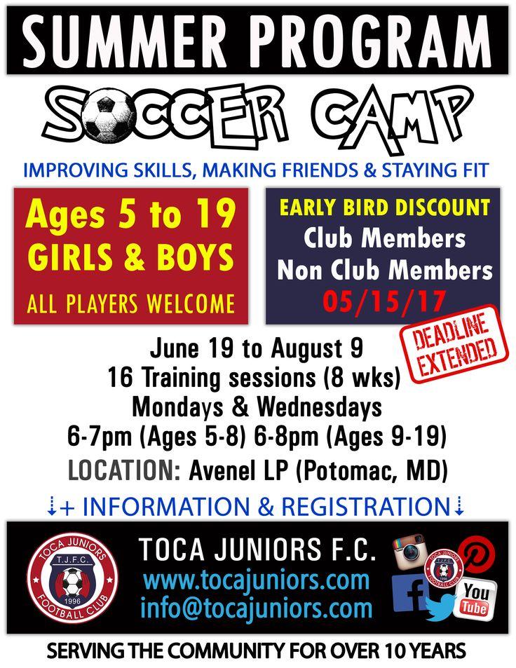🛑Early Bird #Discount Extended!  🌞 Summer #Soccer Camp ⚽ #Soccer #Football #Futbol 👨👩👧👦 #Kids #Girls #Boys #Minis  🗺️ #Potomac #MD #MoCo