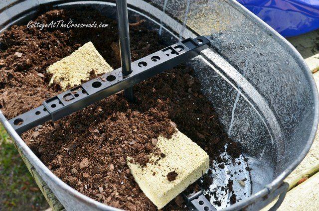 topsy turvy galvanized buckets