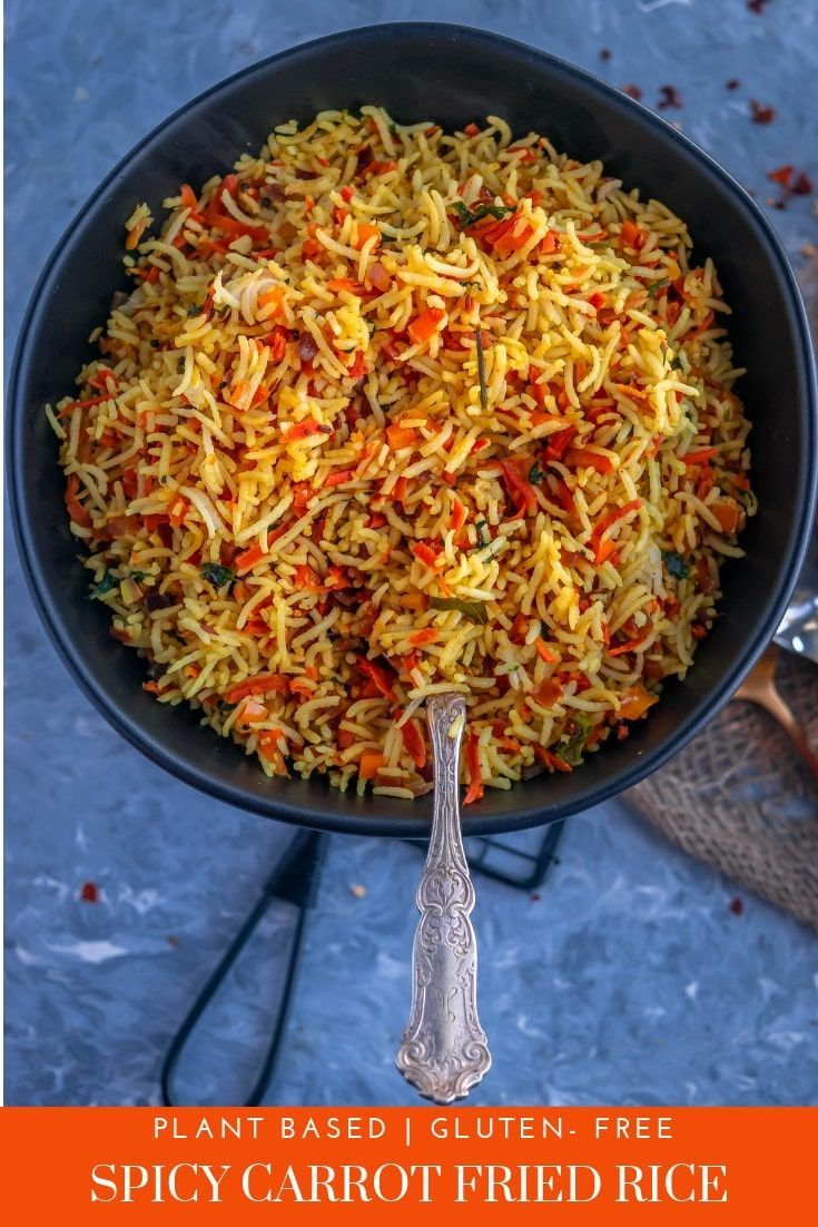 Vegan Spicy Carrot Fried Rice