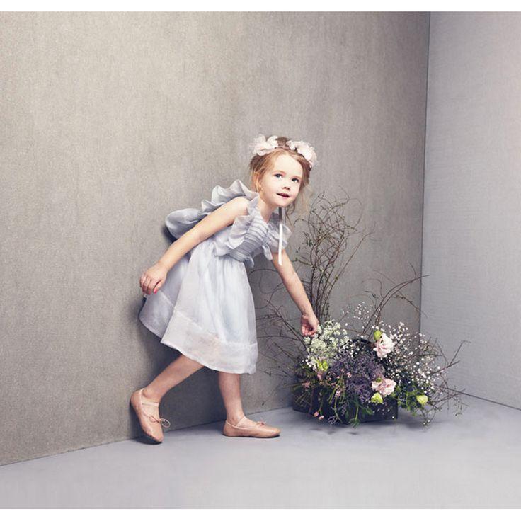 LOVE by Nelly Stella [ラブバイネリーステラ] Mae Dress Artic Ice(ライトグレー) - インポート・輸入 ベビー・子供服 出産祝い vivid LIFE