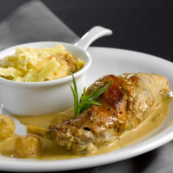 Découvrez la recette de la blanquette de lapin à la moutarde