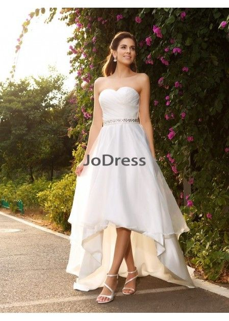 eed88dc768d Jodress 2019 Beach Short Wedding Dresses T801524715102
