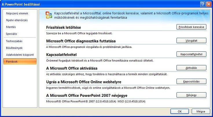 PowerPoint 2007: Termékaktiválás