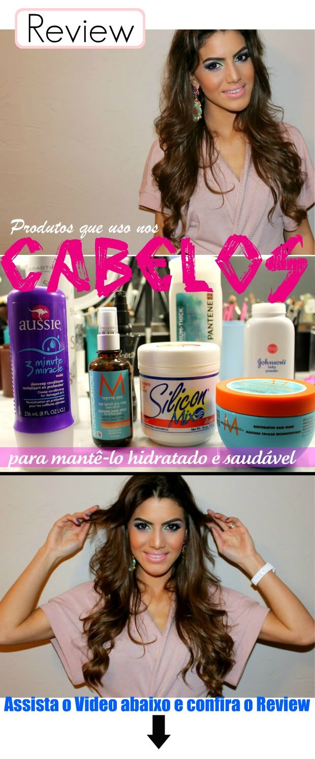 "LISTA DE PRODUTOS: - Creme Silicon Mix (COMPRAR) - Aussie ""3 Minute Miracle"" (COMPRAR) - Máscara Capilar da ""MorrocanOil"" (COMPRAR) - Óleo ""Frizz Control"" da MorrocanOil (COMPRAR)  - Protetor Térmico ""Gardian Angel"" da Got2Be - Sebastan ""Shaper Plus"" Hair Spray - Talco ""Johnson's"""