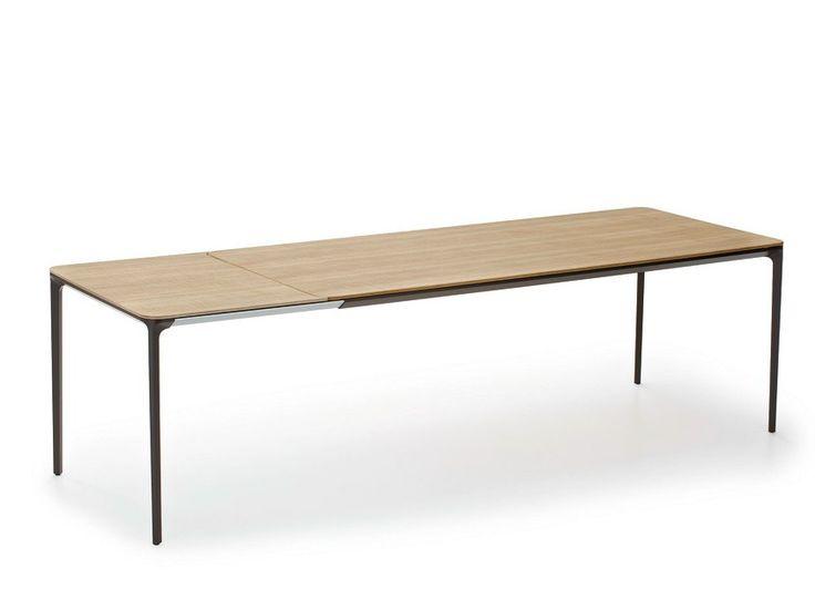 Ausziehbarer Esstisch aus Holz im modernen Stil SLIM WOOD by SOVET ITALIA | Design Matthias Demacker