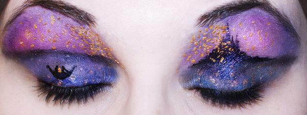 """Tangled"" inspired eye shadow.: Disney Tangled, Eye Makeup, Eye Shadows, Disney Art, Disney Inspiration, Eyeshadows, Eye Art, Disney Scene, Disney Movie"