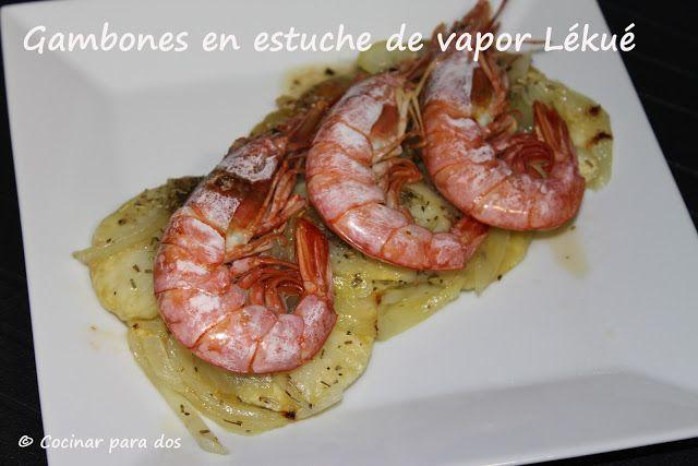 Gambones en estuche de vapor l ku en el microondas for Cocinar vapor microondas