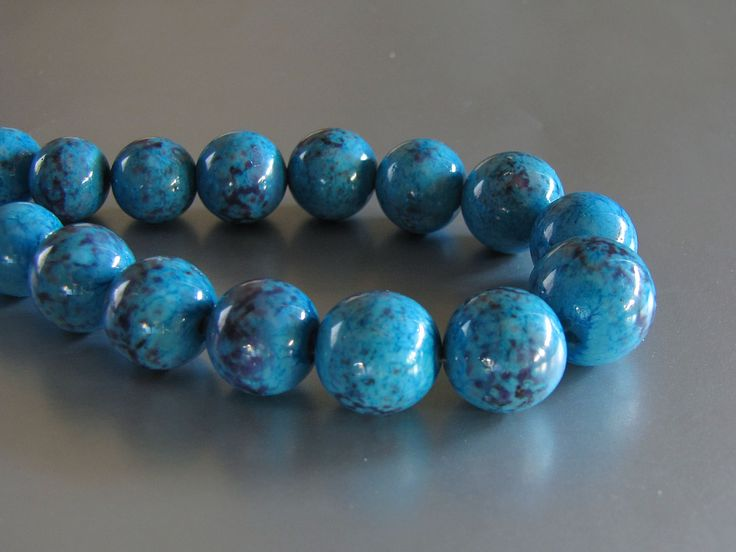 Faux glass turquoise.