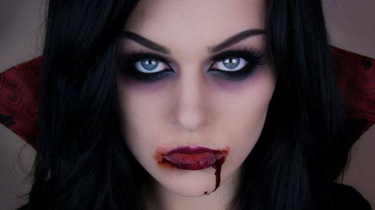 maquillage vampire pour femme à Halloween