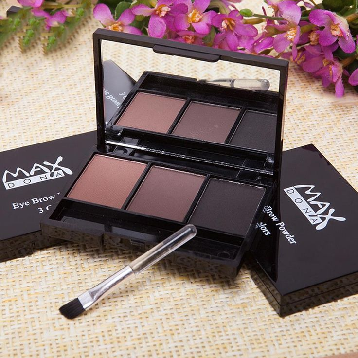 3 Color Eyebrow Powder Palette Cosmetic Makeup Shading Brush Mirror Box Brow High Quality
