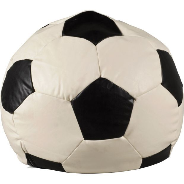 Buy Extra Large Leather Effect Football Beanbag - Black & White at Argos.co.uk - Your Online Shop for Beanbags, Home furnishings, Home and garden.