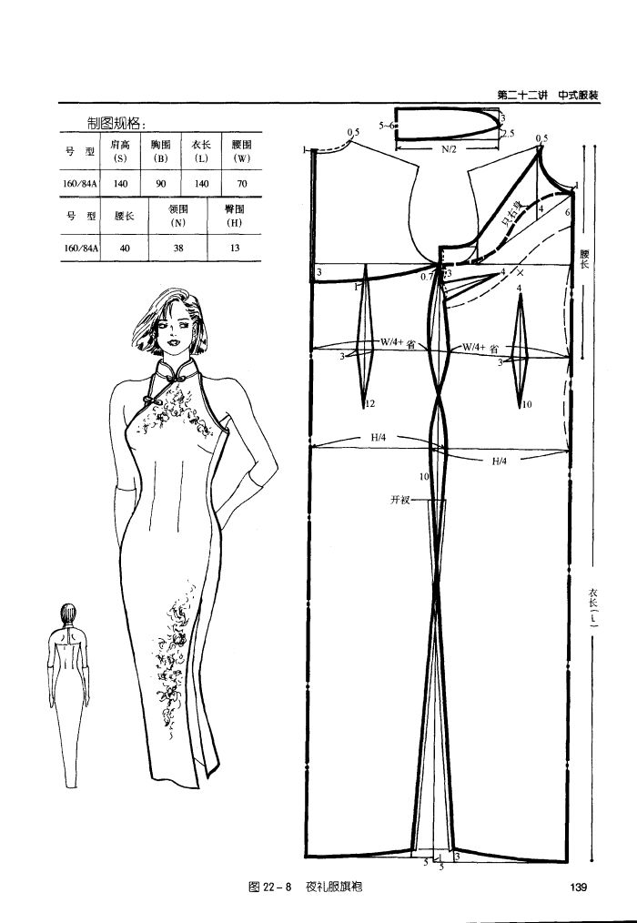 Cheongsam (qipao) with halter neck, can be adapted for cut in armhole.