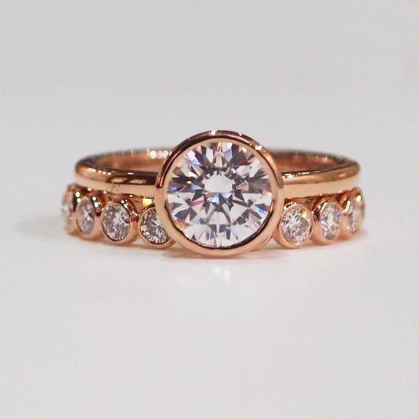 Best 25 Bezel set engagement rings ideas only on Pinterest
