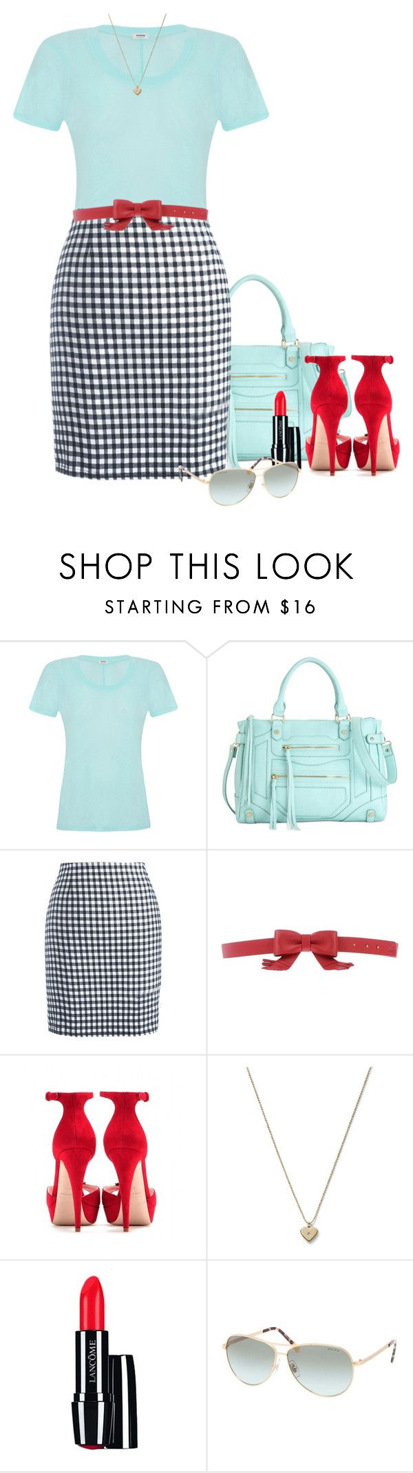 """Tiffany Blue Tops"" by melissa-chung-pnklmnade ❤ liked on Polyvore featuring Monrow, Steve Madden, Chicnova Fashion, Love Moschino, Miu Miu, Michael Kors, Lancôme and Ralph by Ralph Lauren"