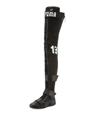 6da29651 Eskiva Over-the-Knee Boxing Boot Black | BOOTS UP BOOTS DOWN | Boxing boots,  Puma boots, Fenty puma
