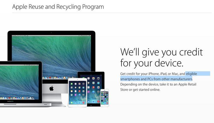 Apple's Trade-In Program Now Includes Non-Apple Smartphones And PCs | TechCrunch