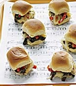 Cheesesteak Sliders: Dinner, 2013 Recipes, Slider Recipes, Cheese Steaks, Sheet Music, Party Ideas, Cheesesteak Sliders, Party Food