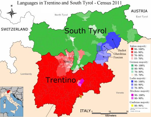 - Language diversity in Italian region of Trentino-Alto...