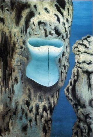 Toyen (Marie Čermínová) - Abandonen cave (1937) #painting #art #Czechia #CzechArt