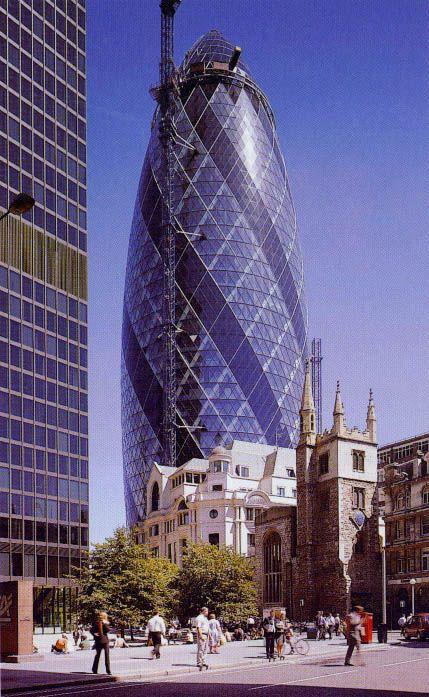 U.K. Swiss Re London Headquarters, 2003  // architects: Norman Foster & Partners