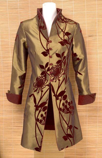 Velvet Flower Mandarin Jacket   Chinese Apparel   Women   Shirts & Jackets