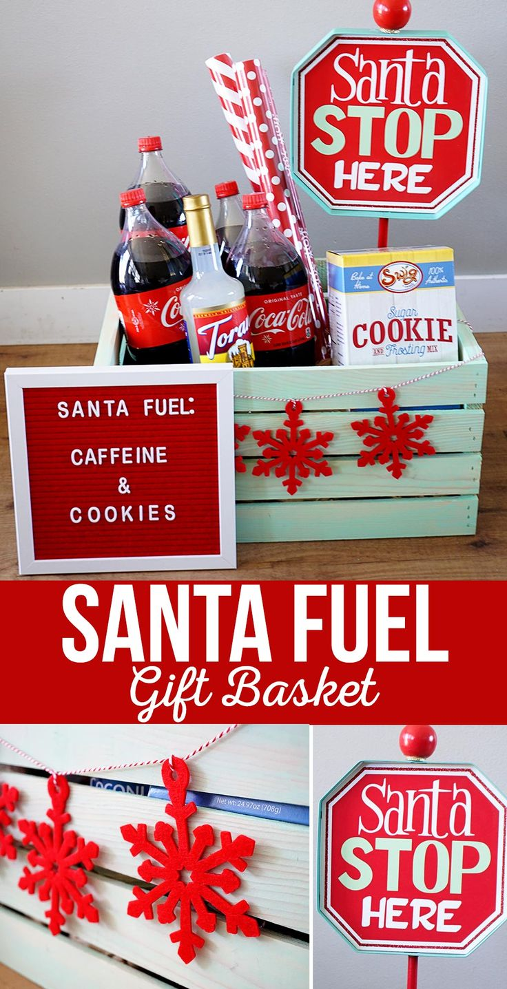 DIY Santa Fuel Gift Basket Idea | A fun Christmas gift basket to give to a frien...