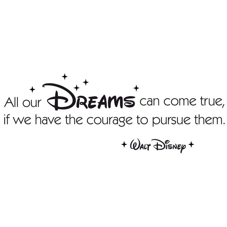 Wall decal All our dreams can come true