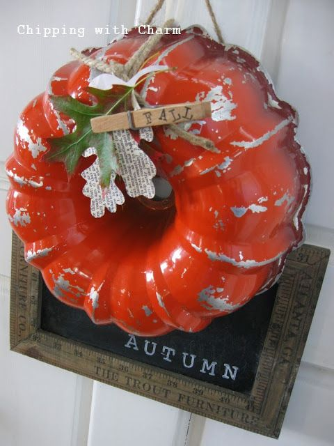Chipping With Charm Bundt Pan Pumpkin Wreath Http Www