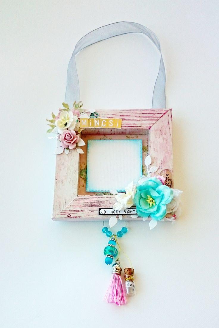Képkeret a kis Kedvencnek - punkrose.hu Photo frame for your favorite, scrapbook, mixed media, shabby chic, shadow box