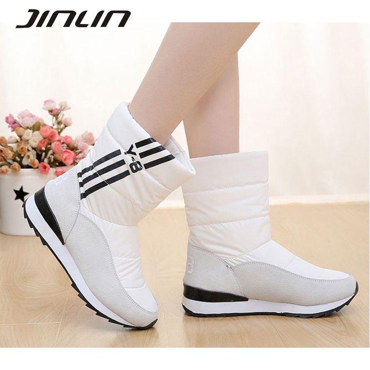 Women's boots women winter shoes waterproof medium-leg women platform snow boots thermal women's winter shoes