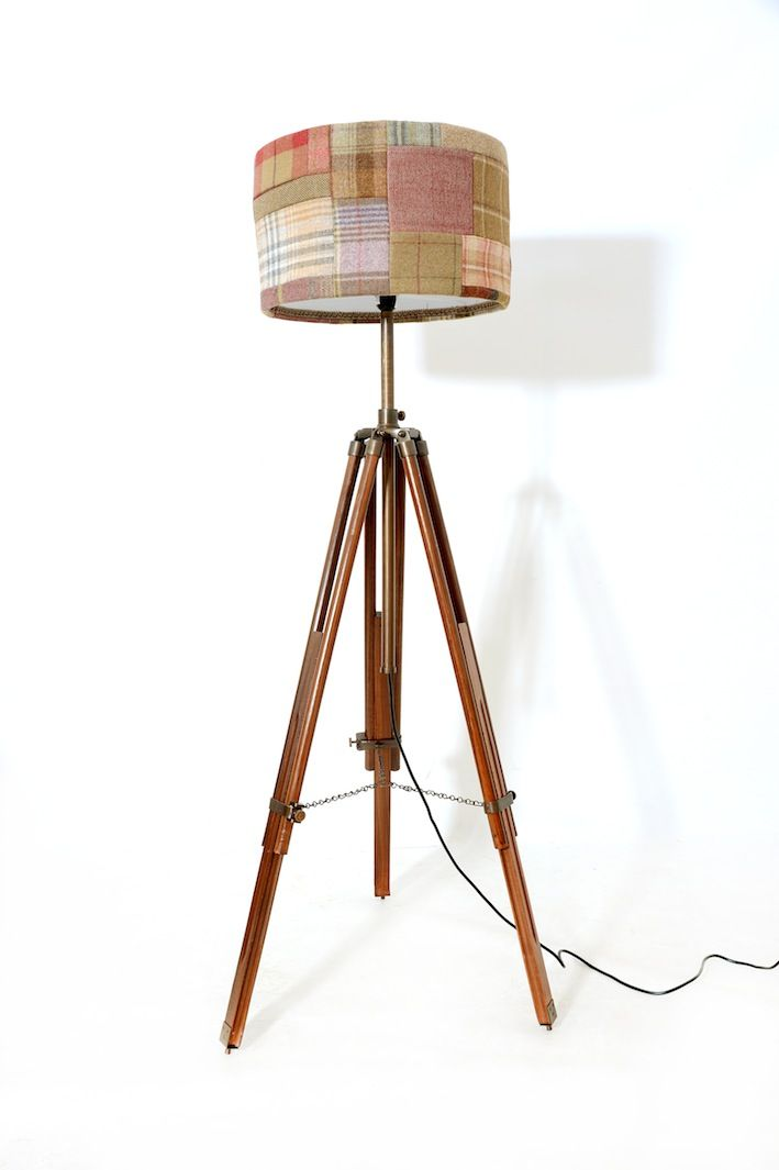 Tripod lamp with Patchwork shade - by far our best selling shades!
