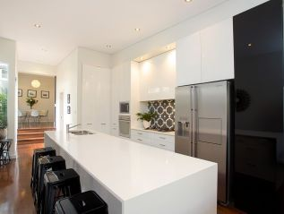 Luxury living, contemporary living, quality modern appointments, CaesarStone gas kitchen, immaculately updated