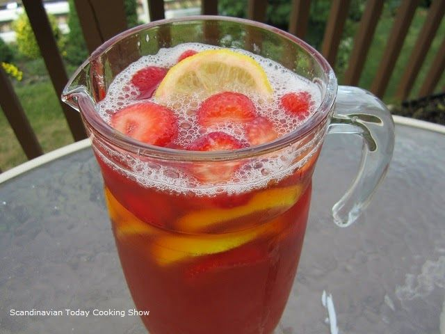 Scandinavian Today Cooking Show: Strawberry Rhubarb Ice Tea a Summer ...