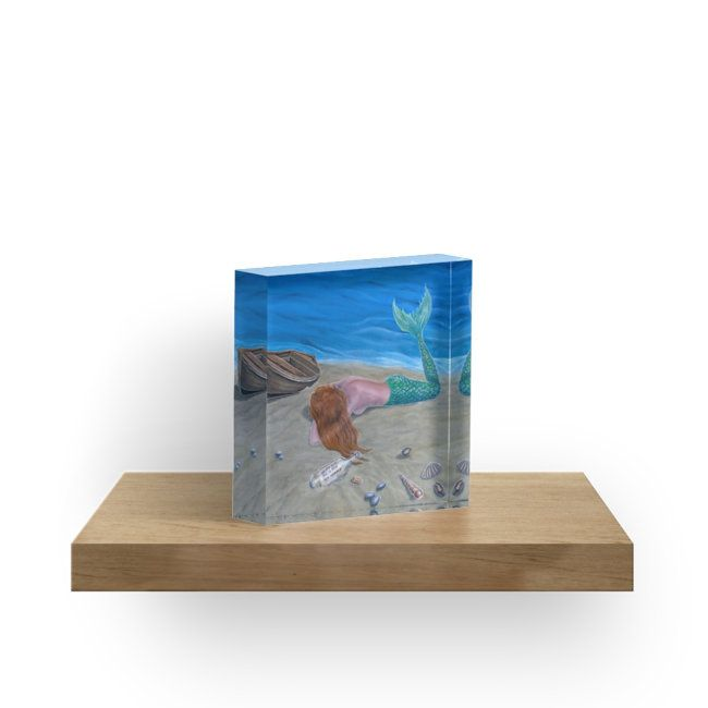acrylic block, home,office,accessories,decor,ideas,mermaid,fantasy,aqua,blue,colorful,items,design,cool,beautiful,fancy,unique,trendy,artistic,awesome,fahionable,unusual,gifts,presents,ideas,for sale,redbubble