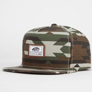 That's a cool take on camp and aztec pattern.  VANS Mens Snapback Hat