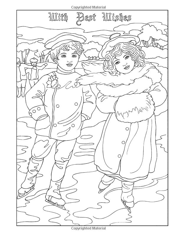 vintage christmas coloring pages vintage coloring pages free vintage ...